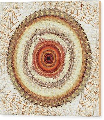 Internal Target Wood Print by Anastasiya Malakhova