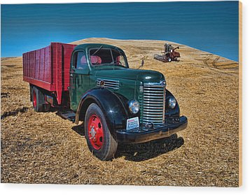 International Farm Truck Wood Print
