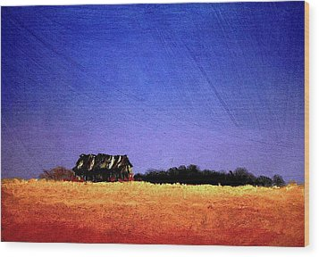 Wood Print featuring the painting Interstate Landscape #1 by William Renzulli