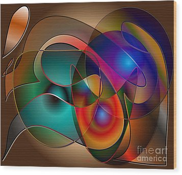 Wood Print featuring the digital art Intertwined by Iris Gelbart