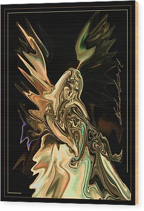 In The Arms  Free To All Wood Print by Steven Lebron Langston