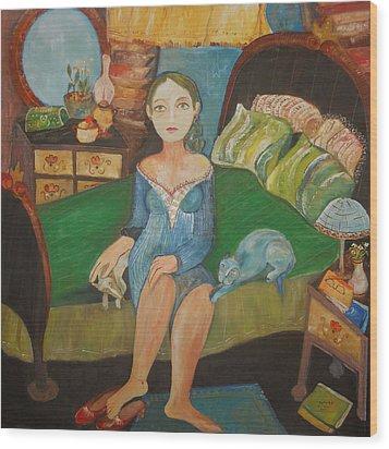 Intimidad Wood Print by Sandra Dooley