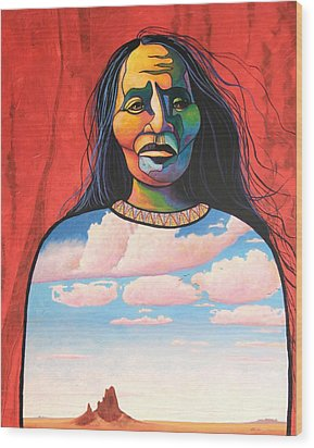 Into Her Spirit Wood Print by Joe  Triano