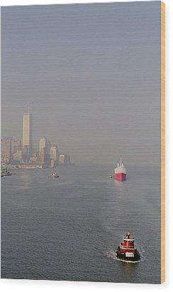 Into Port Wood Print by Joann Vitali