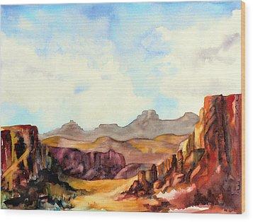 Into The Canyon Wood Print