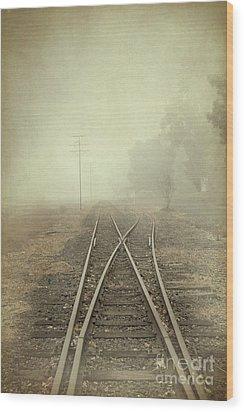 Into The Fog Wood Print by Elaine Teague