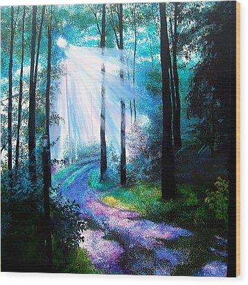 Into The Light. Wood Print by Jennifer  Blenkinsopp