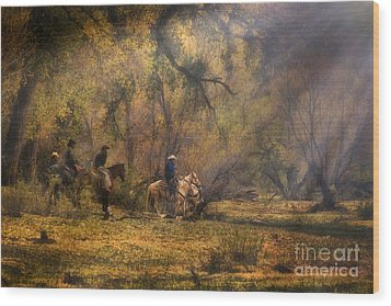 Into The Light Wood Print by Priscilla Burgers