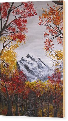 Into The Mountains Wood Print by Pheonix Creations