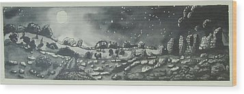 Into The Night Wood Print by Jeanne Ward