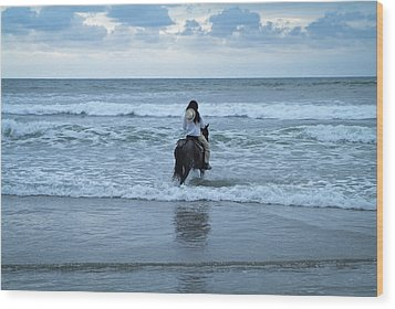 Wood Print featuring the photograph Into The Ocean by Lana Enderle