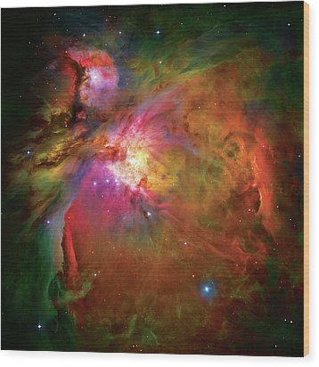 Into The Orion Nebula Wood Print