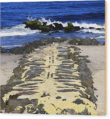 Into The Sea Wood Print by Colleen Kammerer