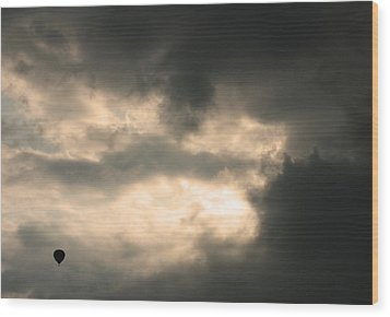 Wood Print featuring the photograph Into The Storm by Debi Dmytryshyn