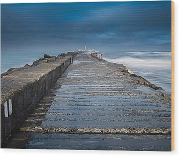 Into The Storm Wood Print by Greg Nyquist