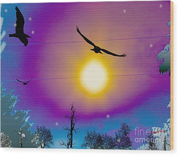 Into The Sun Wood Print by Bobby Hammerstone