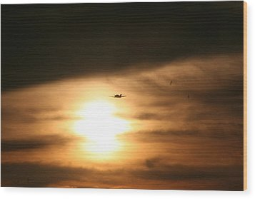Wood Print featuring the photograph Into The Sun by David S Reynolds