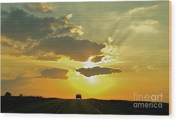 Into The Sunset - No.0580 Wood Print