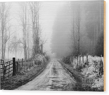 Into The Unknown Wood Print by Rory Sagner