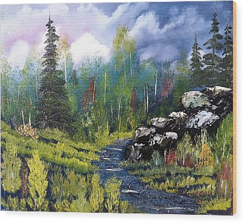 Into The Wilderness Wood Print by Roy Gould