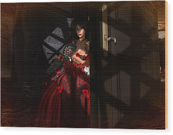 Wood Print featuring the digital art Intrigue by Kylie Sabra