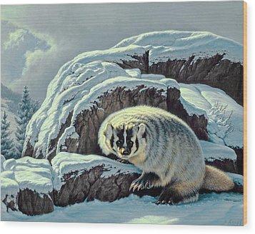 Intrusion -  Badger Wood Print by Paul Krapf