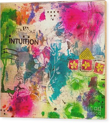 Intuition  Wood Print by Corina  Stupu Thomas