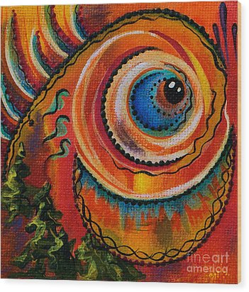 Intuitive Spirit Eye Wood Print
