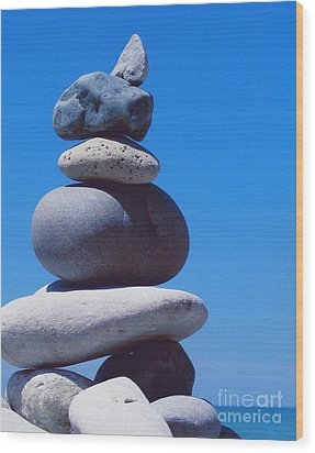 Inukshuk 1 By Jammer Wood Print by First Star Art