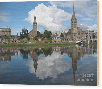 Wood Print featuring the photograph Inverness Highlands Of Scotland by Jacqi Elmslie