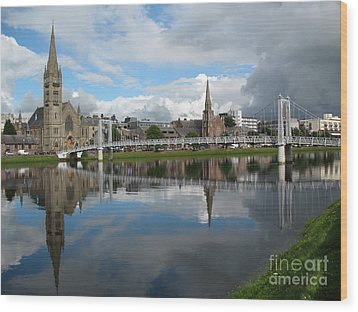 Wood Print featuring the photograph Inverness Riverscape by Jacqi Elmslie