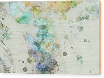 Inversion Abstract Art Wood Print by Ann Powell