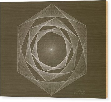 Inverted Energy Spiral Wood Print by Jason Padgett