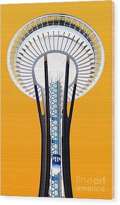 Inverted Needle Wood Print by Chris Anderson