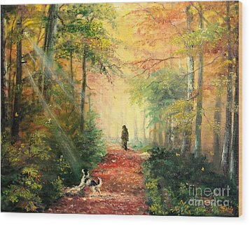 Invitation To Walk   Wood Print by Sorin Apostolescu