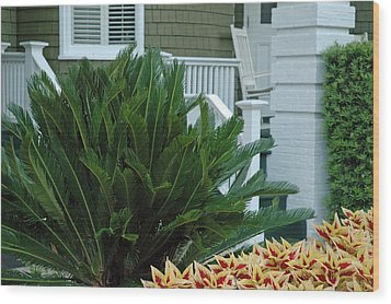 Inviting Front Porch Wood Print by Bruce Gourley