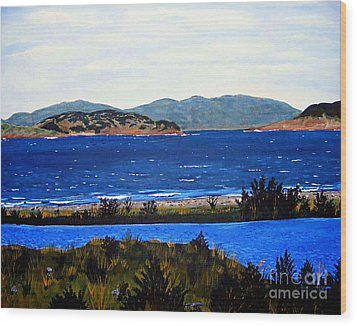 Wood Print featuring the painting Iona Formerly Rams Islands by Barbara Griffin