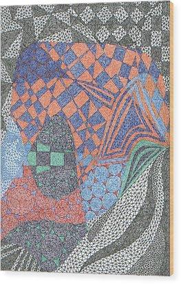 Ionic Pentameter Wood Print by William Burns