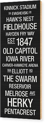 Iowa College Town Wall Art Wood Print by Replay Photos