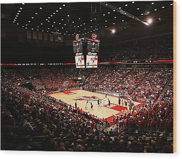 Iowa State Cyclones James H. Hilton Coliseum Wood Print by Replay Photos