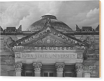 Iowa State University Beardshear Hall Wood Print by University Icons