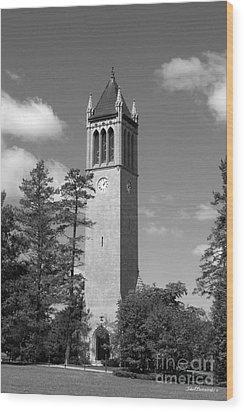 Iowa State University Campanile Wood Print by University Icons