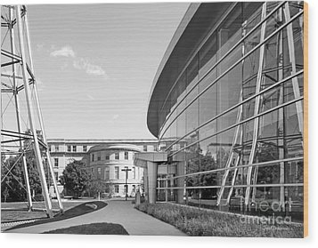 Iowa State University Hoover Hall Wood Print by University Icons