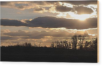 Wood Print featuring the digital art Iowa Sunset by Kirt Tisdale