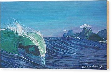 Ipanema Beach Wood Print by Chikako Hashimoto Lichnowsky
