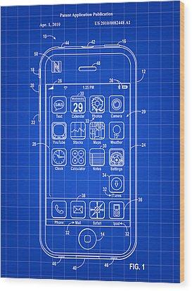 iPhone Patent - Blue Wood Print