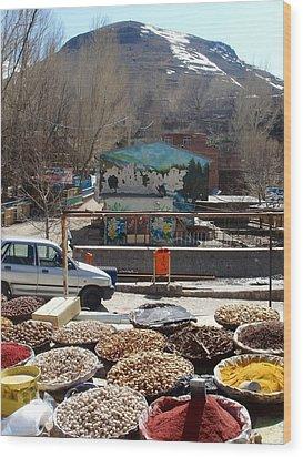 Iran Kandovan Spices Wood Print by Lois Ivancin Tavaf