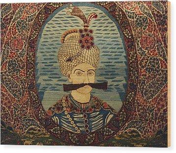 Iran King Abbas Carpet Museum Tehran Wood Print by Lois Ivancin Tavaf
