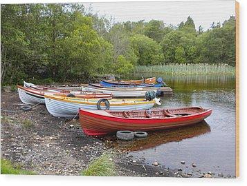 Ireland Boats 2 Wood Print