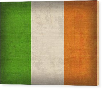 Ireland Flag Vintage Distressed Finish Wood Print by Design Turnpike